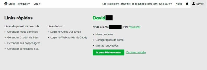 Links Rápidos da GoDaddy