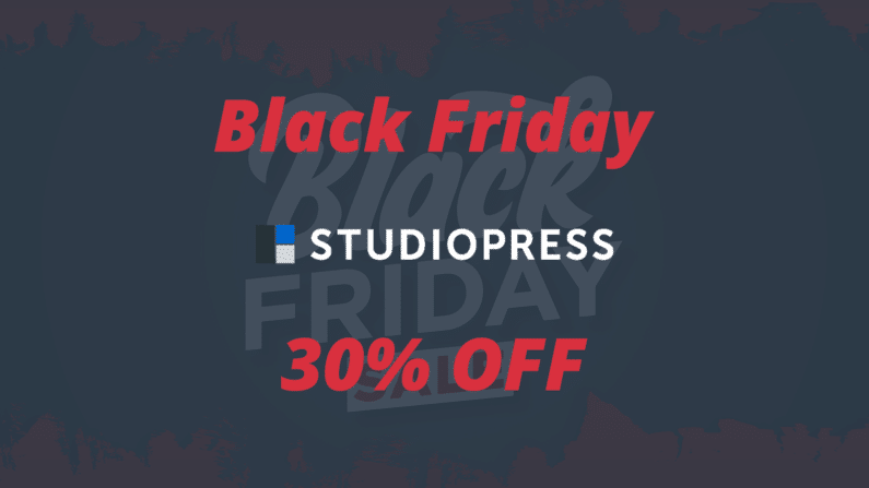 Black Friday StudioPress 2020 | 30% OFF | Genesis Pro