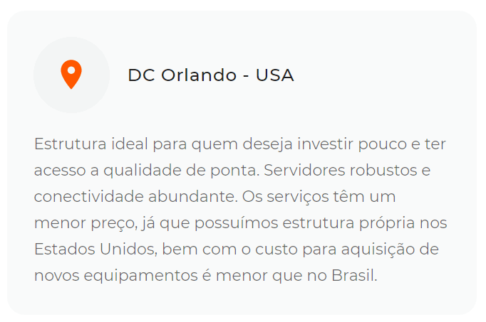 Por que escolher data center de Orlando da HostDime