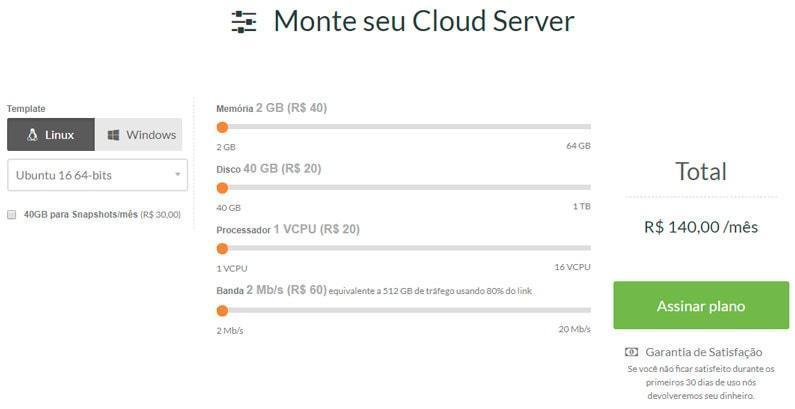 Configuração do Cloud Server da RedeHost